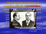 what were the positive and negative effects of prohibition