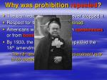 why was prohibition repealed