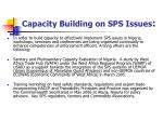 capacity building on sps issues
