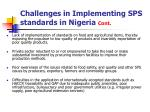 challenges in implementing sps standards in nigeria cont