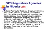 sps regulatory agencies in nigeria cont6