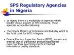 sps regulatory agencies in nigeria