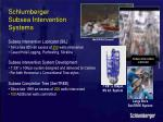 schlumberger subsea intervention systems