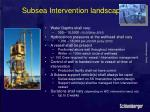 subsea intervention landscape
