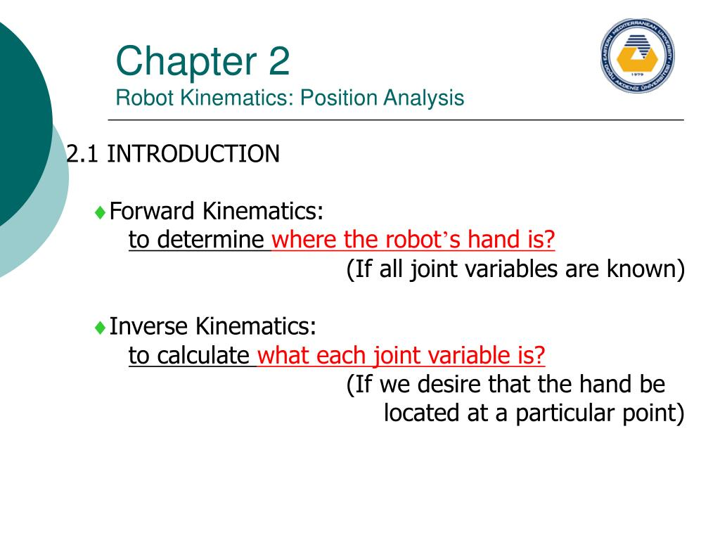 chapter 2 robot kinematics position analysis l.