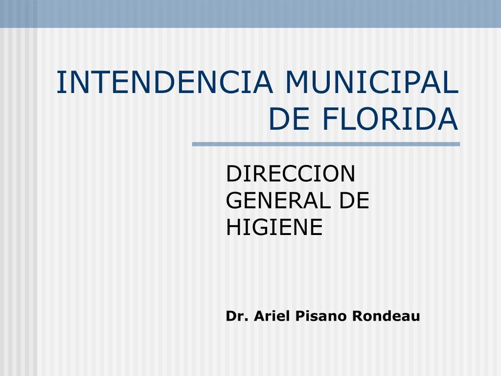 intendencia municipal de florida l.