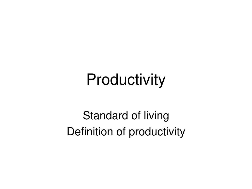 productivity l.