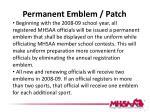 permanent emblem patch