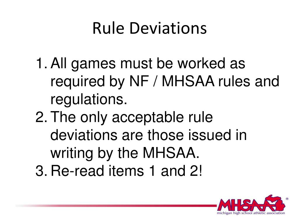 Rule Deviations
