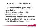 standard 2 game control