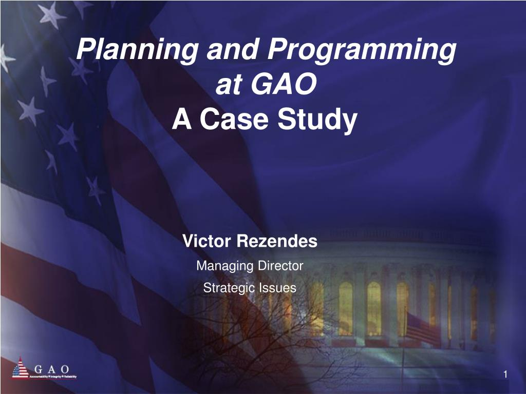 planning and programming at gao a case study l.