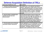 defense acquisition definition of trls12