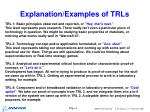 explanation examples of trls