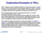 explanation examples of trls5