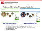 math and english success websites