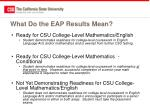 what do the eap results mean