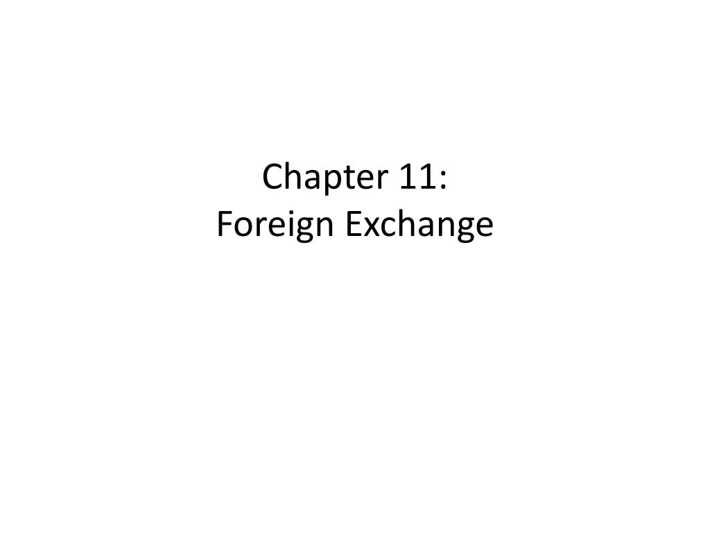 chapter 11 foreign exchange l.