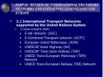 part ii review of international transport networks and initiatives linking asia and europe