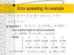error spreading an example