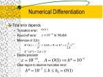 numerical differentiation35