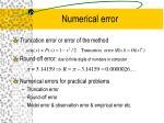 numerical error21