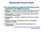 measurable annual goals39