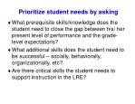 prioritize student needs by asking