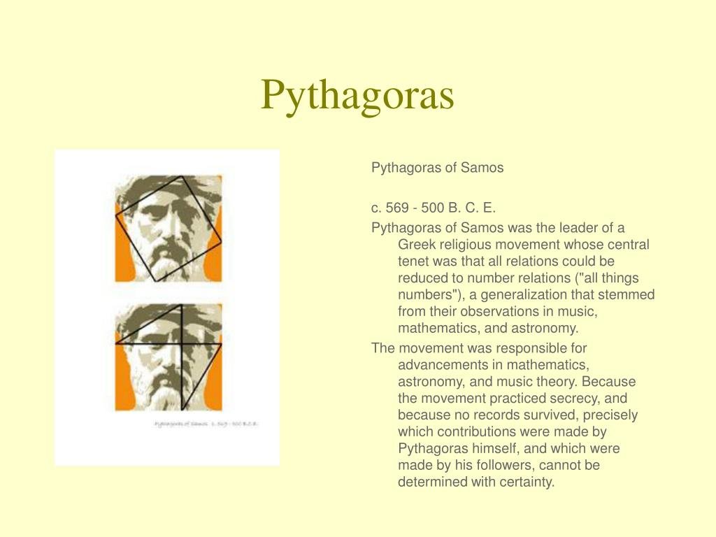 a biography of pythagoras greek philosopher and mathematician