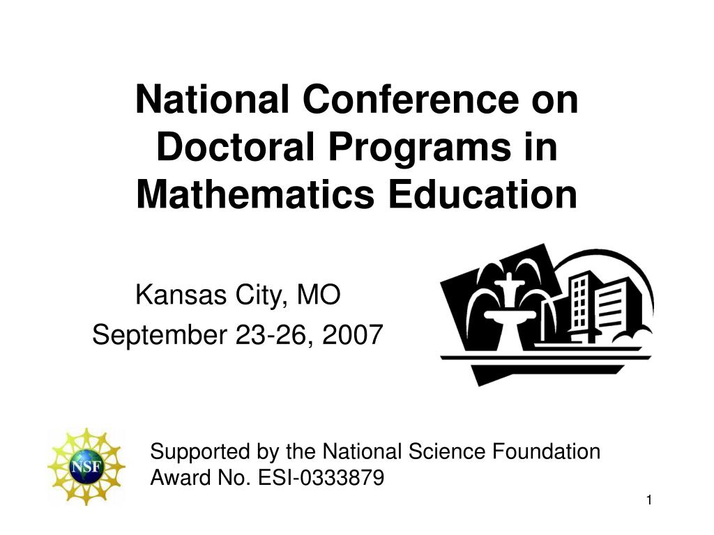 national conference on doctoral programs in mathematics education l.