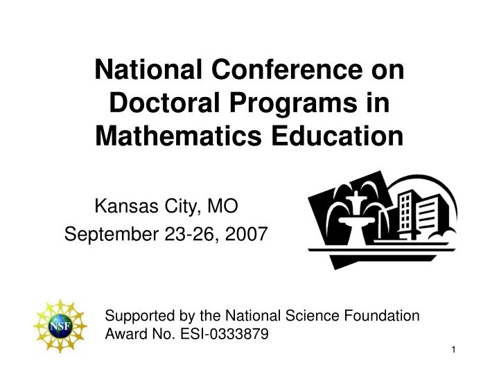 national conference on doctoral programs in mathematics education n.