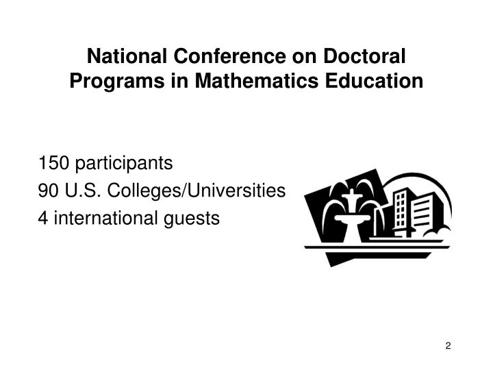 National conference on doctoral programs in mathematics education2