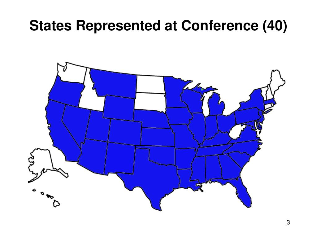 States Represented at Conference (40)