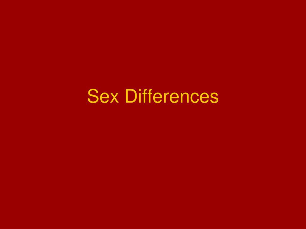 sex differences l.