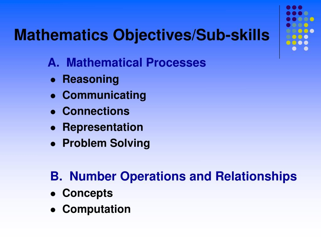 A.  Mathematical Processes