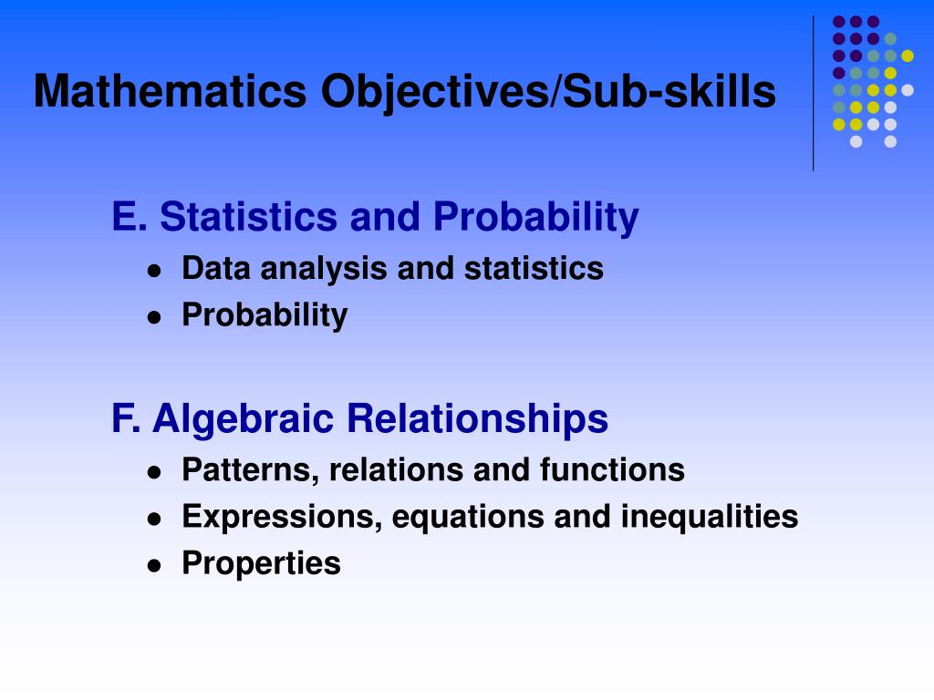 E. Statistics and Probability