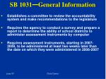 sb 1031 general information