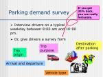 parking demand survey