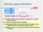 parking supply estimation