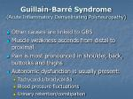guillain barr syndrome acute inflammatory demyelinating polyneuropathy24