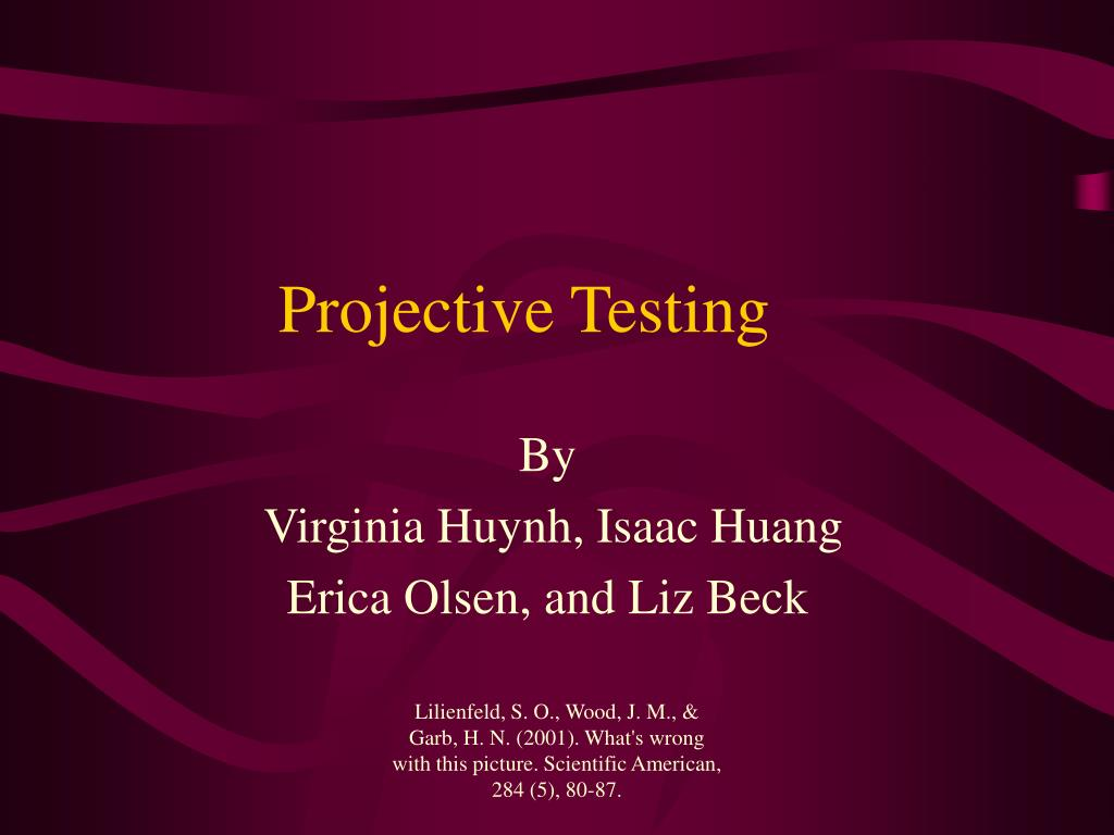 projective testing l.