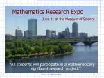 mathematics research expo