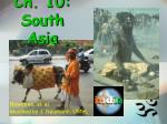 ch 10 south asia