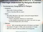 cultural coherence and diversity a common heritage undermined by religious rivalries cont38