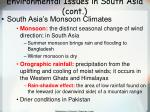 environmental issues in south asia cont
