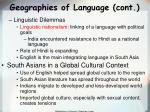 geographies of language cont