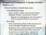 geopolitical framework a deeply divided region cont