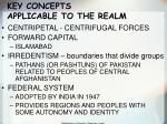 key concepts applicable to the realm