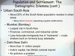 population and settlement the demographic dilemma cont30