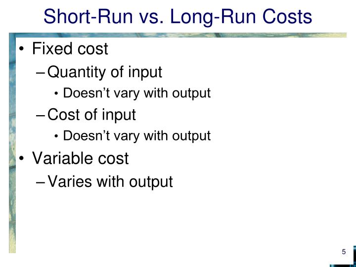 long run vs short run Many an economics student has questioned the difference between the long run  and the short run in economics learn about the short run vs.