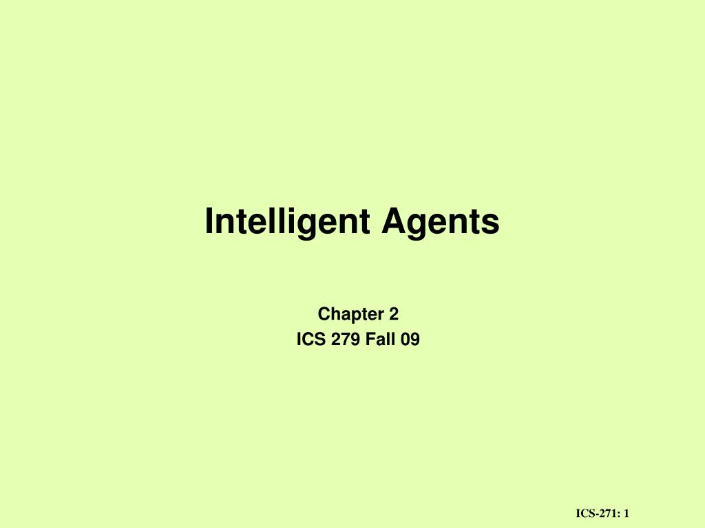 intelligent agents l.